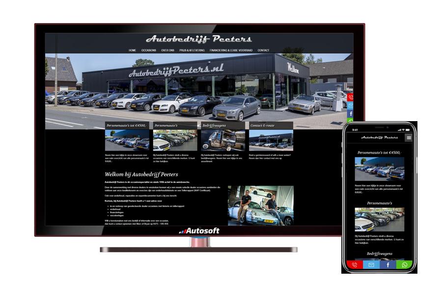Autobedrijf Peeters - AutoWebsite Pro Vanquish