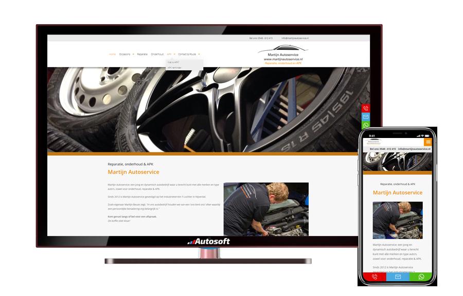 Martijn Autoservice - AutoWebsite Business Matador