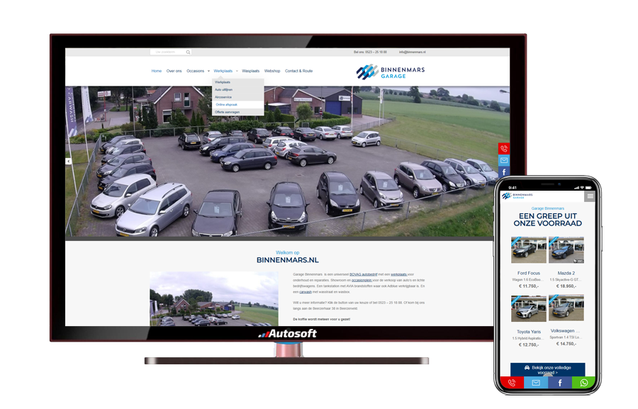 Garage Binnenmars - AutoWebsite Pro Matador