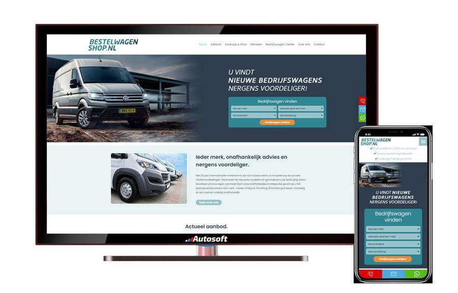 Bestelwagenshop.nl - AutoWebsite Maatwerk